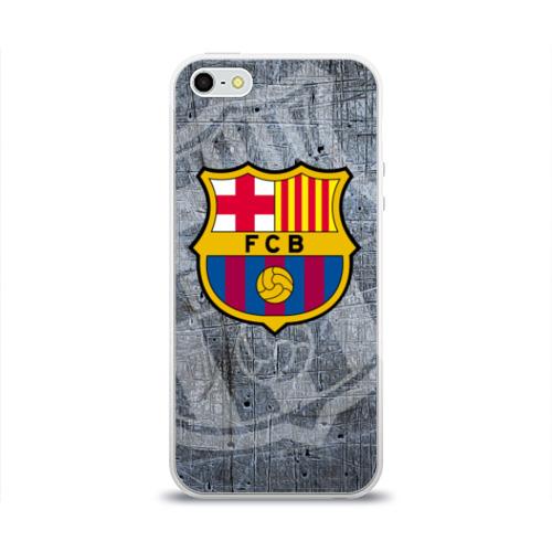 Чехол для Apple iPhone 5/5S силиконовый глянцевый Barcelona