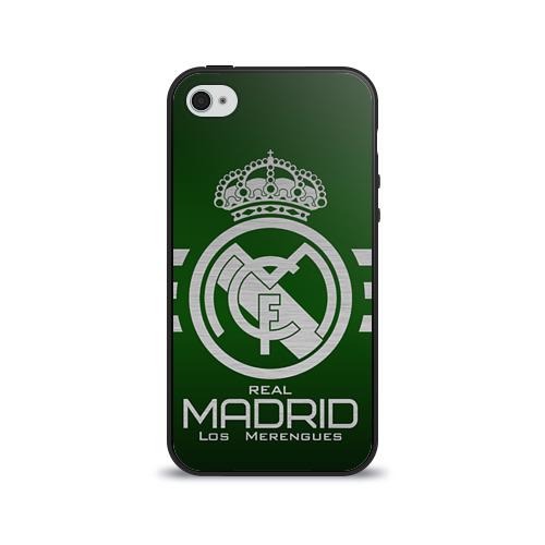 Чехол для Apple iPhone 4/4S силиконовый глянцевый Real Madrid от Всемайки