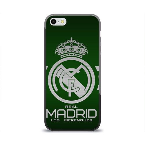 Чехол для Apple iPhone 5/5S силиконовый глянцевый Real Madrid от Всемайки