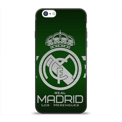 Чехол для Apple iPhone 6 силиконовый глянцевый Real Madrid от Всемайки