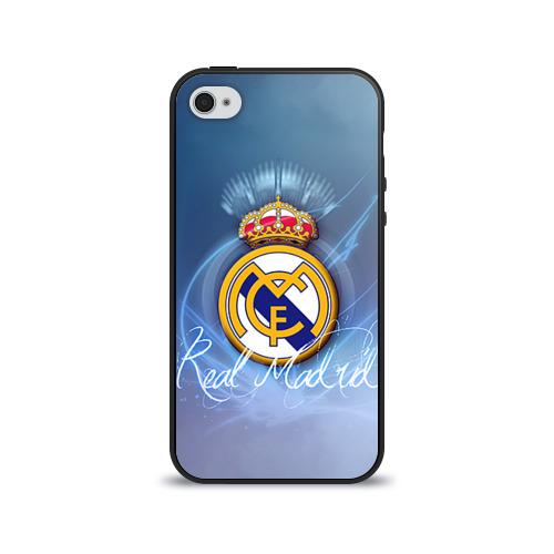 """Чехол силиконовый глянцевый для Apple iPhone 4S """"Real Madrid"""" (3) - 1"""