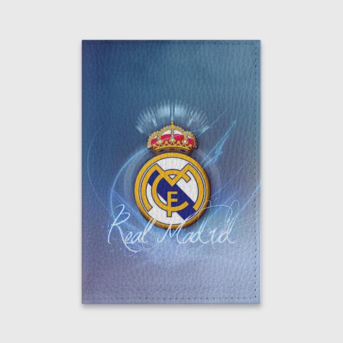 Обложка для паспорта матовая кожа Real Madrid