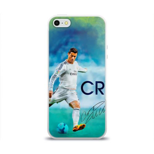 Чехол для Apple iPhone 5/5S силиконовый глянцевый Ronaldo