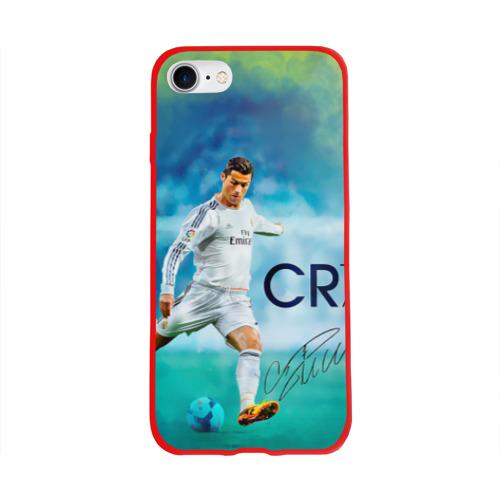 Чехол для Apple iPhone 8 силиконовый глянцевый Ronaldo