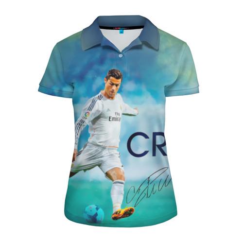 Женская рубашка поло 3D Ronaldo