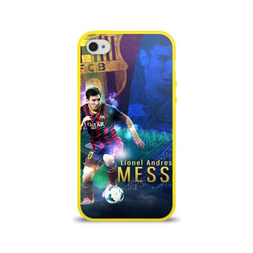 """Чехол силиконовый глянцевый для Apple iPhone 4S """"Messi"""" - 1"""