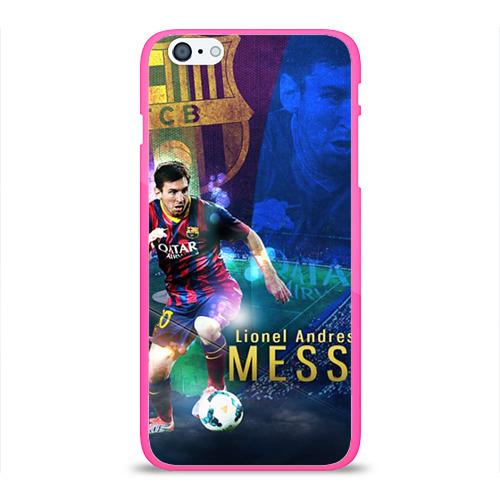 """Чехол силиконовый глянцевый для Apple iPhone 6 Plus """"Messi"""" - 1"""