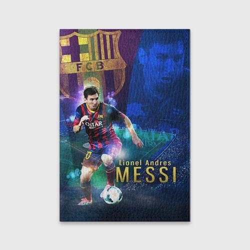 Обложка для паспорта матовая кожа Messi
