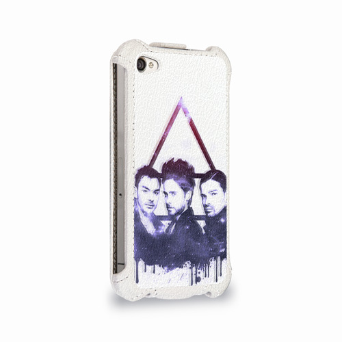 Чехол для Apple iPhone 4/4S flip  Фото 02, 30 seconds to mars