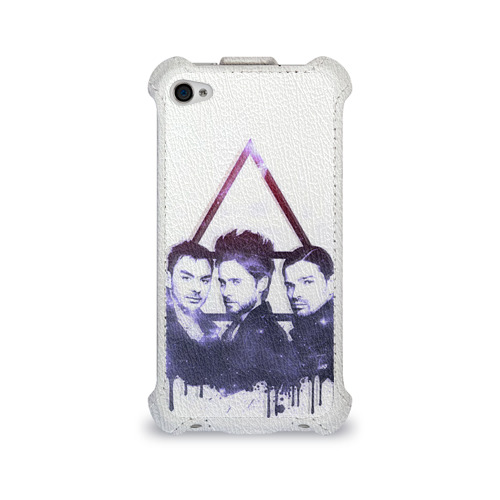 Чехол для Apple iPhone 4/4S flip  Фото 01, 30 seconds to mars