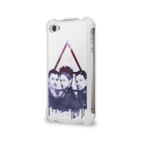 Чехол для Apple iPhone 4/4S flip  Фото 03, 30 seconds to mars