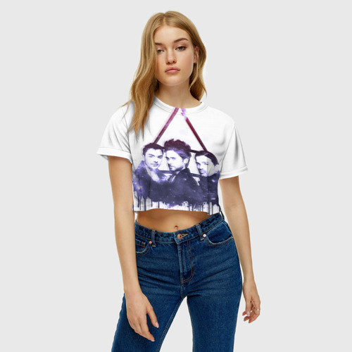 Женская футболка 3D укороченная  Фото 04, 30 seconds to mars