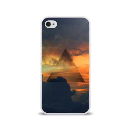 Чехол для Apple iPhone 4/4S силиконовый глянцевый 30 seconds to mars