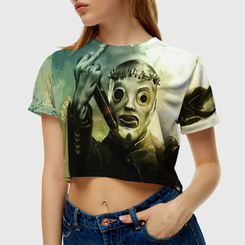 Женская футболка Cropp-top Slipknot
