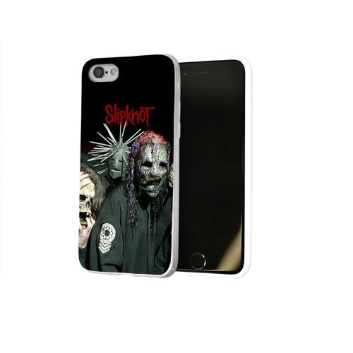 Чехол для Apple iPhone 8 силиконовый глянцевый  Фото 02, Slipknot