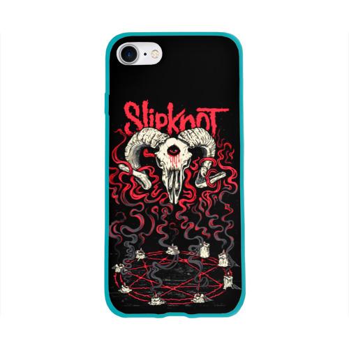 Чехол для Apple iPhone 8 силиконовый глянцевый Slipknot