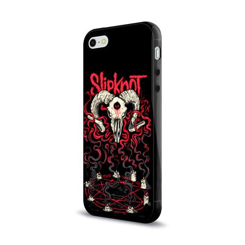 Чехол для Apple iPhone 5/5S силиконовый глянцевый Slipknot Фото 01