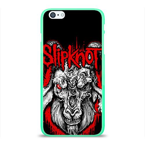 """Чехол силиконовый глянцевый для Apple iPhone 6 Plus """"Slipknot"""" (3) - 1"""
