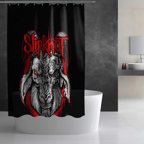 Штора 3D для ванной  Фото 03, Slipknot