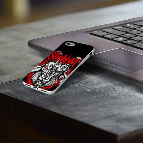 Чехол для Apple iPhone 8 силиконовый глянцевый  Фото 03, Slipknot