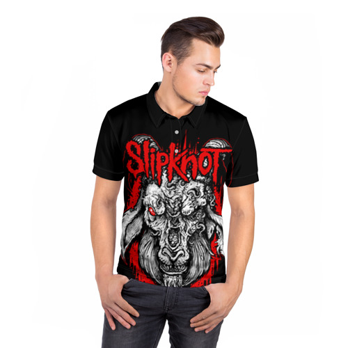 Мужская рубашка поло 3D  Фото 05, Slipknot