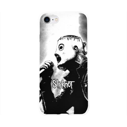 Чехол для Apple iPhone 8 силиконовый глянцевый  Фото 01, Slipknot