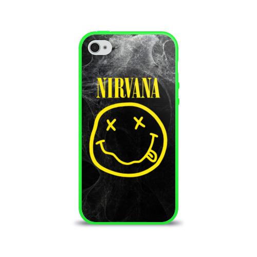 Чехол для Apple iPhone 4/4S силиконовый глянцевый Nirvana Фото 01