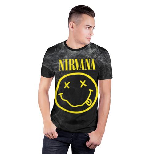Мужская футболка 3D спортивная Nirvana Фото 01