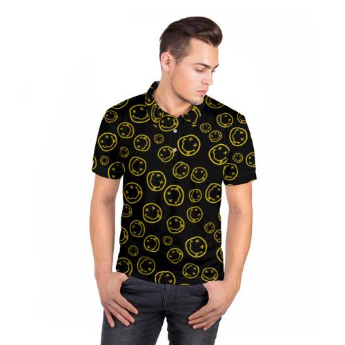 Мужская рубашка поло 3D  Фото 05, Nirvana
