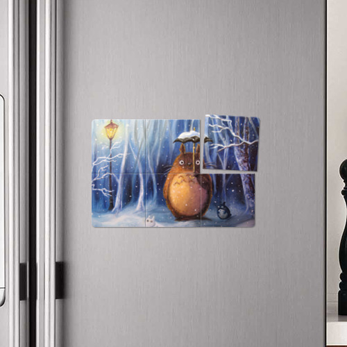 Магнитный плакат 3Х2 Тоторо под снегом Фото 01