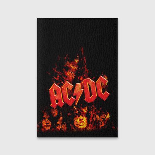 Обложка для паспорта матовая кожа AC/DC