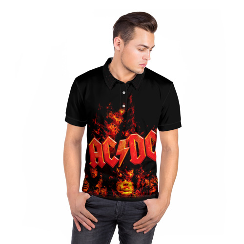 Мужская рубашка поло 3D  Фото 05, AC/DC