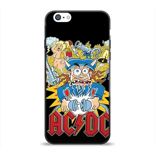 Чехол для Apple iPhone 6 силиконовый глянцевый AC/DC от Всемайки