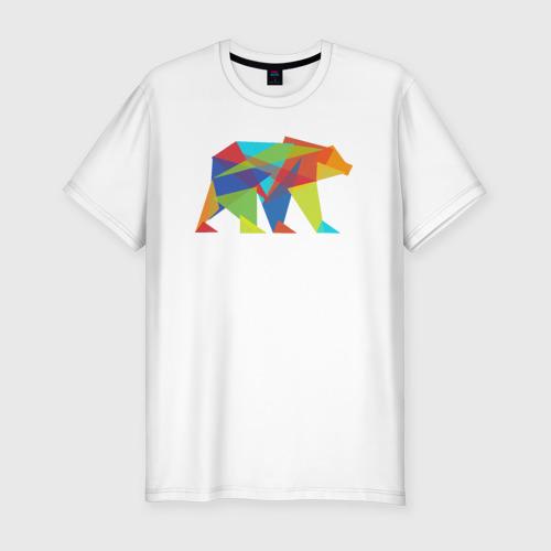 Мужская футболка премиум  Фото 01, Fractal geometric bear