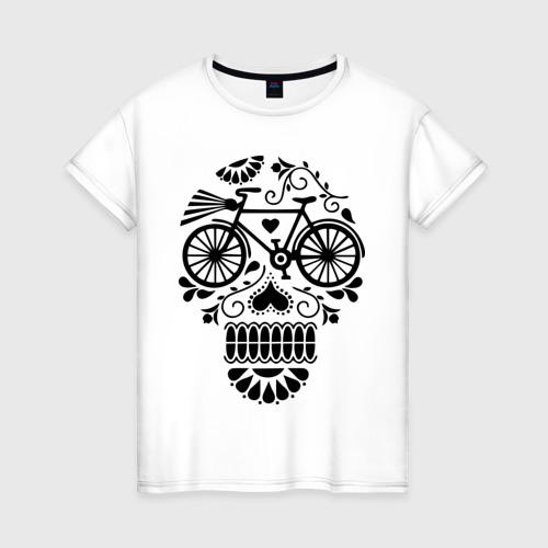 Женская футболка хлопок Велочереп