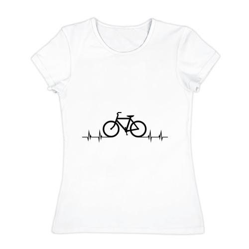 Женская футболка хлопок Велоспорт