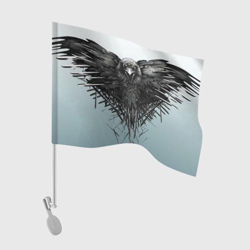 Флаг для автомобиля Ворон