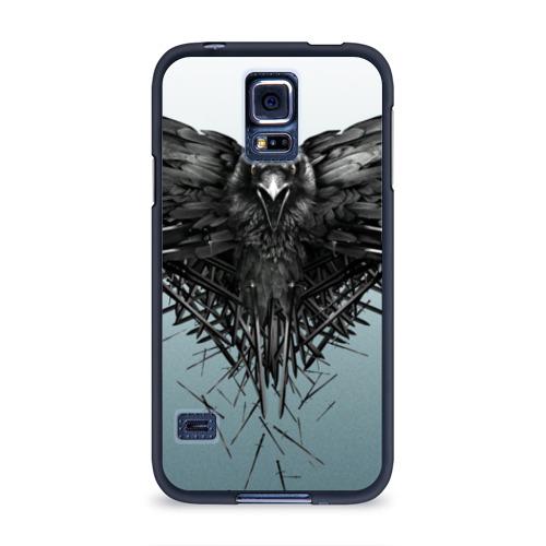 Чехол для Samsung Galaxy S5 силиконовый Ворон