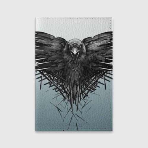Обложка для паспорта матовая кожа Ворон