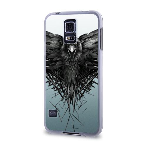 Чехол для Samsung Galaxy S5 силиконовый  Фото 03, Ворон