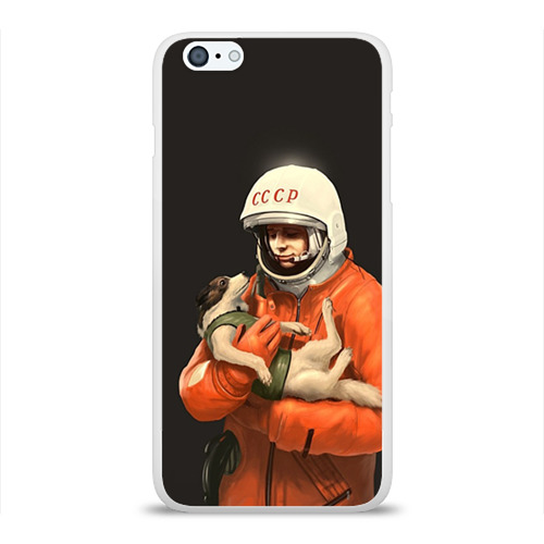 Чехол для Apple iPhone 6Plus/6SPlus силиконовый глянцевый  Фото 01, Гагарин
