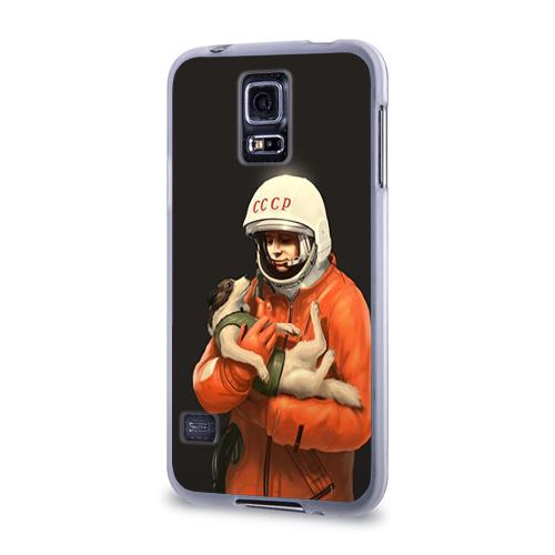 Чехол для Samsung Galaxy S5 силиконовый Гагарин Фото 01
