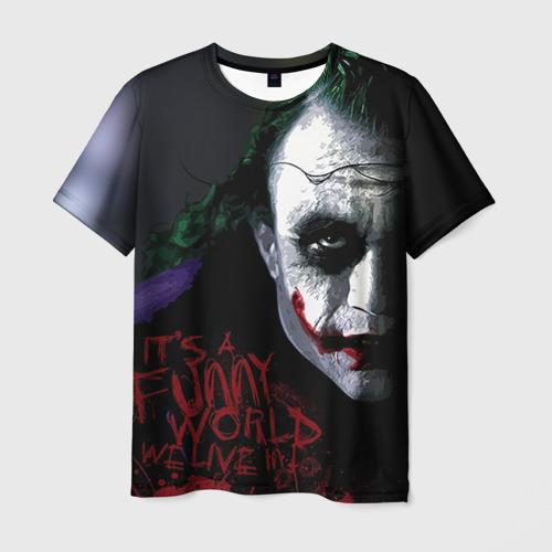 """Мужская футболка 3D с полной запечаткой """"Джокер"""" - 1"""