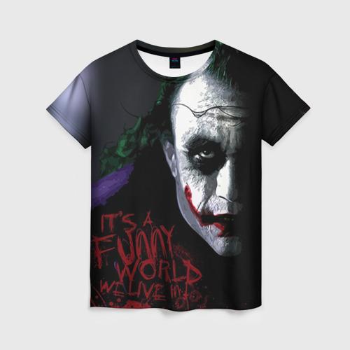 """Женская футболка 3D с полной запечаткой """"Джокер"""" - 1"""