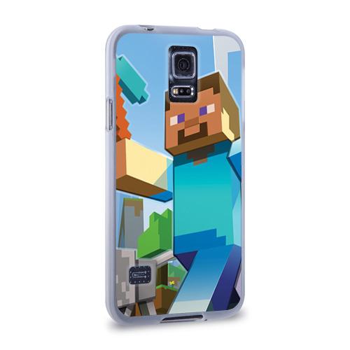 Чехол для Samsung Galaxy S5 силиконовый  Фото 02, Майнкрафт