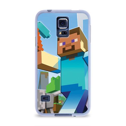 Чехол для Samsung Galaxy S5 силиконовый  Фото 01, Майнкрафт