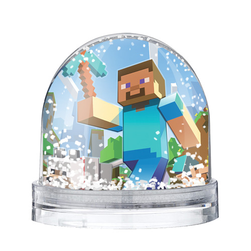Водяной шар со снегом Майнкрафт