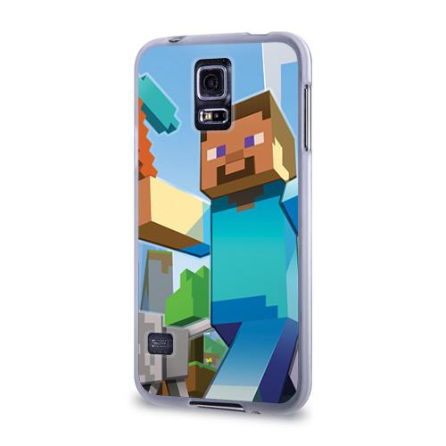 Чехол для Samsung Galaxy S5 силиконовый  Фото 03, Майнкрафт