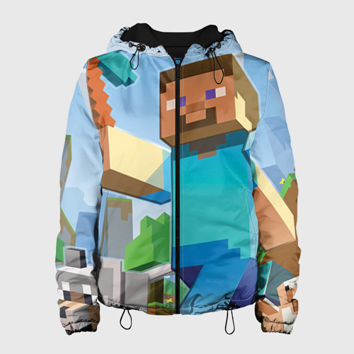 Женская куртка 3D Майнкрафт