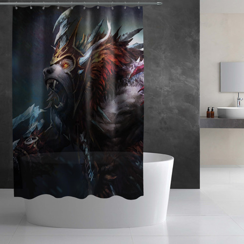 Штора 3D для ванной  Фото 03, Урса